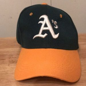 Other - Oakland Athletics Green & Yellow Baseball Cap!